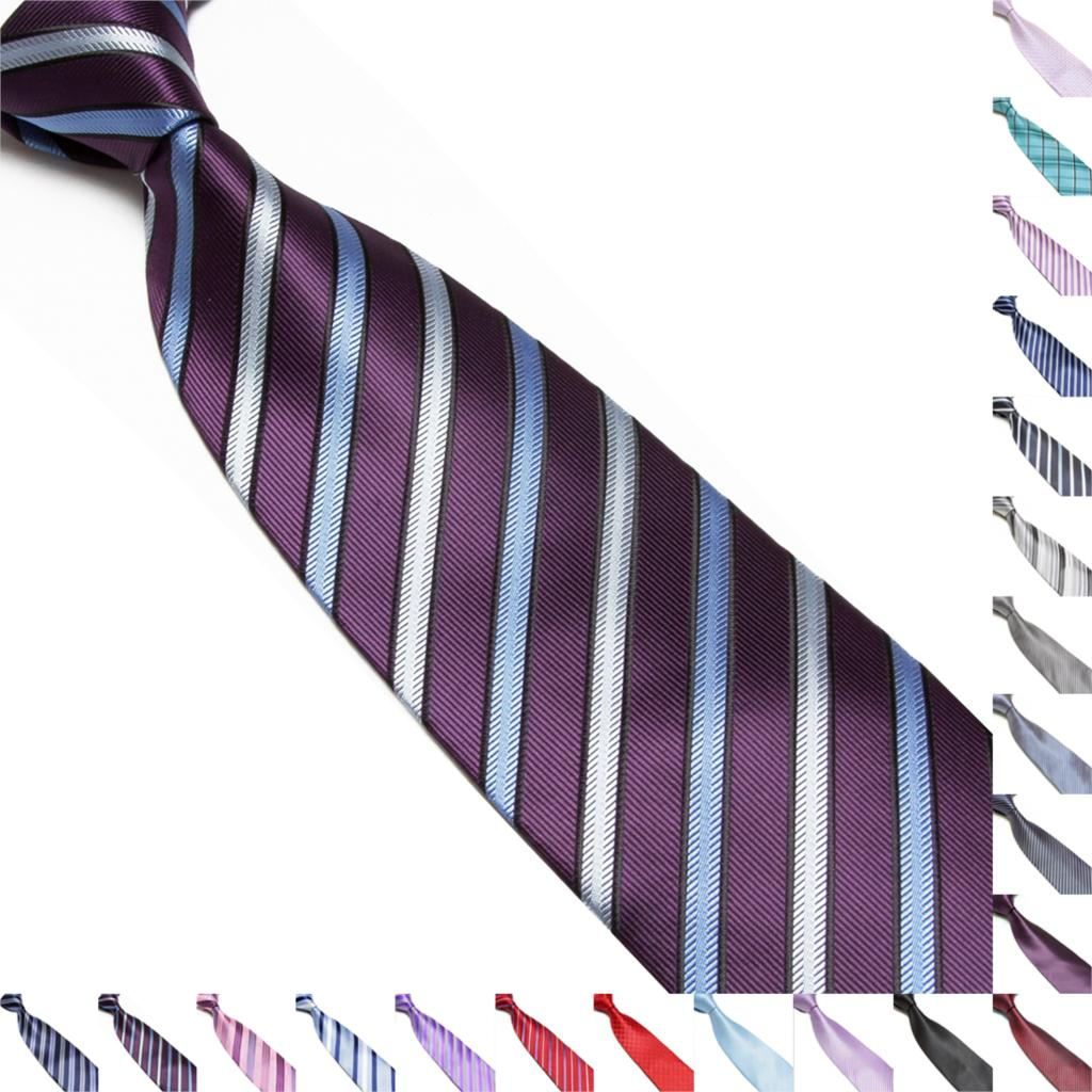100% Silk Mens Charm Classic Striped Tie JACQUARD WOVEN Suits Ties Necktie new