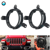 car accessories 7 inch Round LED Headlight Mounting Bracket Ring for 2018 2019 Jeep Wrangler JL.