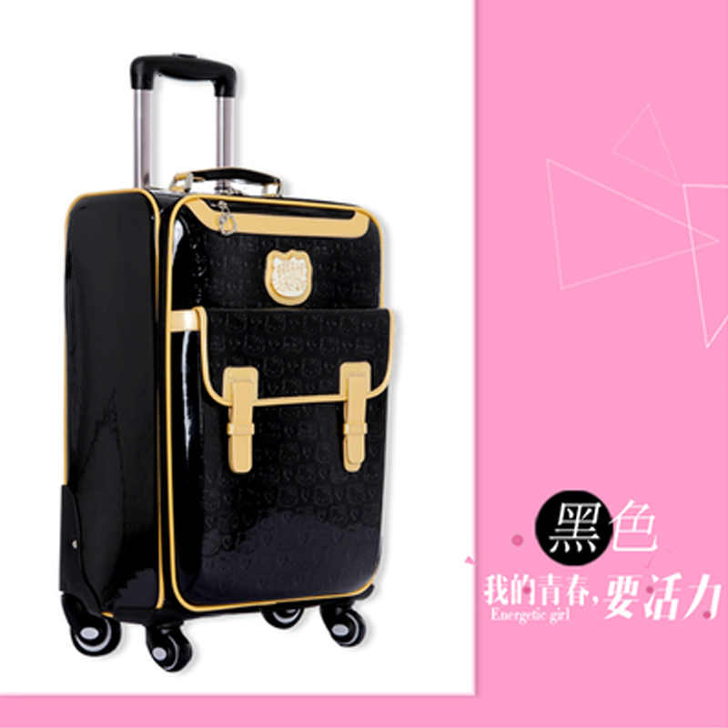 GraspDream прекрасный 16 дюймов косметичка hello Kitty 20 24 дюймов для девочек студенческий чемодан на колесиках для путешествий женский чемодан на колесиках
