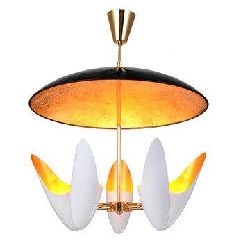 الشمال LED الثريا مطعم مصابيح العلية مصابيح تعليق للزينة غرفة المعيشة مصابيح الحديد المطاوع الثريات نادي إضاءة ديكورية