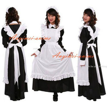 Free Shipping Sexy Sissy Maid Dress Cotton Lockable Dress Maid Uniform Cosplay Costume Tailor-made
