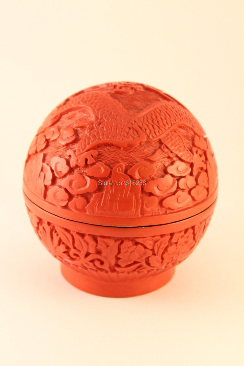 Coupon acquisition Red Cinnabar Resin hand carved dragon