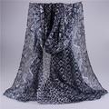 Envío gratis nuevo 2015 mujeres diamante cifrado Leopard impreso Real de la bufanda de gran tamaño de los patrones de viscosa bufandas del mantón del abrigo > 175 cm