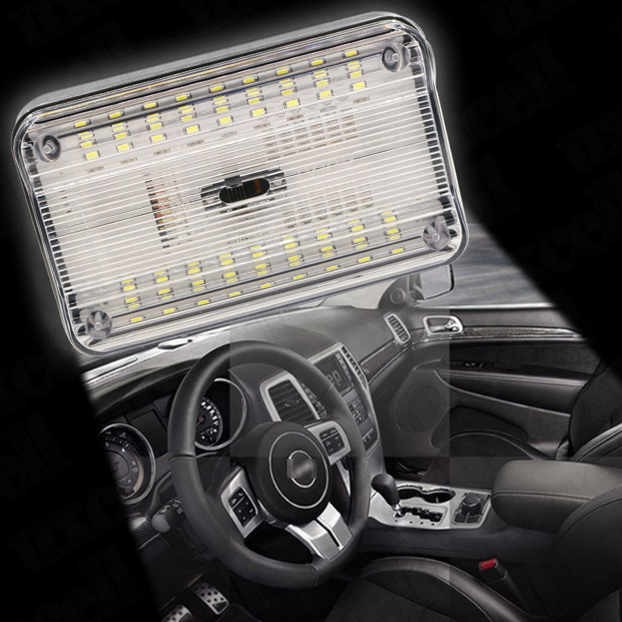 auto led light Car Dome Light 36 SMD LED Roof Rectangular Ceiling Interior Lamp-White guangdian car led light auto interior light kit roof vanity light glove foot trunk cargo lamp t10 festoon for kia ceed 2006 2015