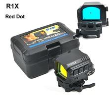 Охотничьи прицелы оптический прицел R1X рефлекторный прицел Оптический красный точка с ИК функцией для страйкбола Воздушный пистолет быстросъемные крепления