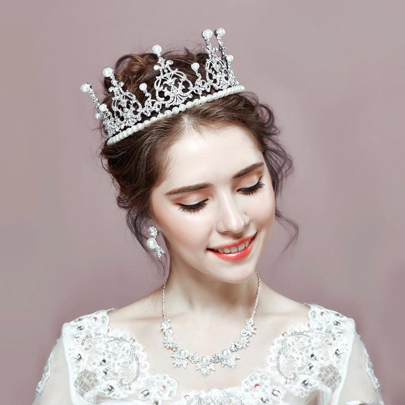 Wedding Crown Hair: Selling Baroque High Quality Pearl Queen Tiara Princess