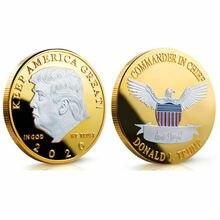 Дональд J Трамп, президент США Дональд Трамп, серебряная позолоченная памятная монета с орлом