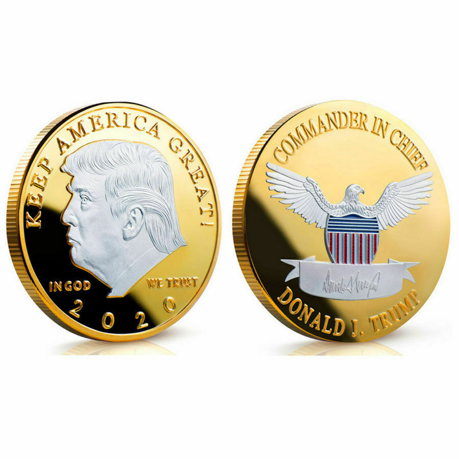 Donald J Trump Of US President Donald Trump Silver Gold Plated EAGLE Commemorative Coin