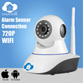 Chuangkesafe 720 P CCTV WIFI câmera IP Megapixel HD ip câmera de Segurança Digital Sem Fio IR Infrared Night Vision sistema de alarme
