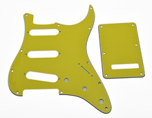 Screws Fits For Strat  Yellow ST Style SSS Guitar Pickguard,Trem Cover,