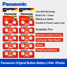 Panasonic 20pcs/2packs 1.5V Button Cell Battery lr44 Lithium Coin Batteries A76 AG13 G13A LR44 LR1154 357A SR44 100% Original ycdc cell coin ag13 lr44 lr1154 sr44 a76 357a 303 357 alkaline coin cells battery x24