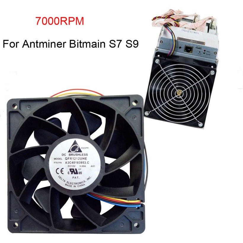 CARPRIE 7000 rpm Ventola Di Raffreddamento di Ricambio 4-pin Connettore Per Bitmain Antminer S7 S9 180126 di trasporto di goccia