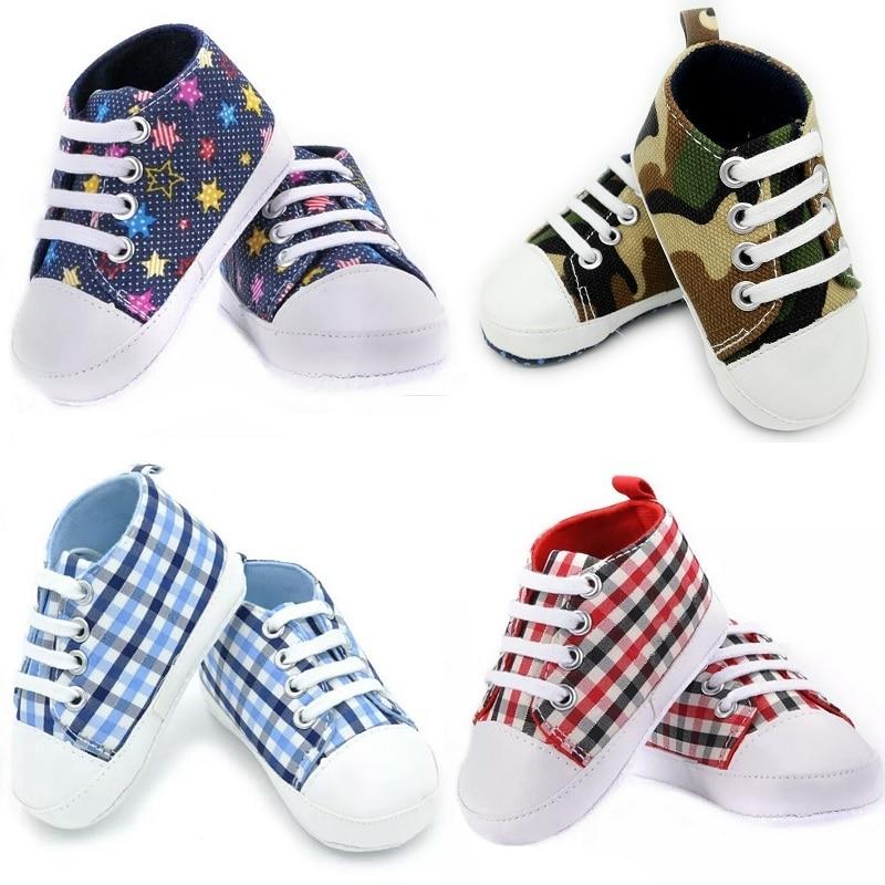 Unisex Baby Shoes Non-Slip Newborn First Walker Infant Prewalker Canvas Shoe Children Boy Sneakers Girl GYM Plimsoll 11 12 13 14