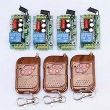 Système de télécommande sans fil 220 V 1CH 1000W  RF, interrupteur de lumière lattée, 4 récepteur + 3 transmetteur