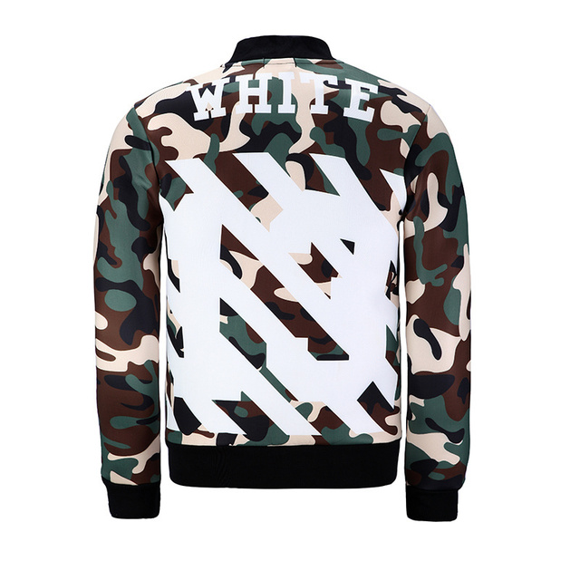 89b8571d8f1e Off white 13 jacket men women casual fashion icon skull coat brand quality  camo baseball outer homme veste hombre chaqueta