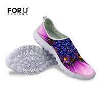 FORUDESIGNS Aqua Shoes Beach Shoes Women Flower Pattern Printed Flat Sneakers Sport Outdoor Shoes Woman Sandals