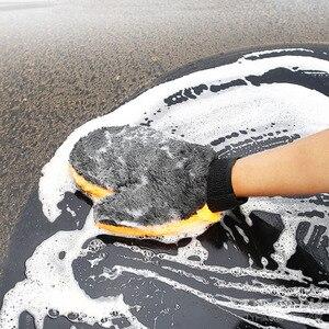 Image 5 - 1 шт., перчатки из микрофибры для мытья автомобиля