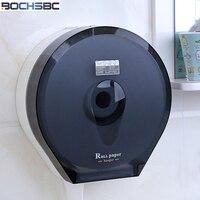 BOCHSBC Waterproof Tissue Box Hotel Bathroom Toilet ABS Paper Roll Holder Large Grey Brown Porta Rotolo Carta Igienica