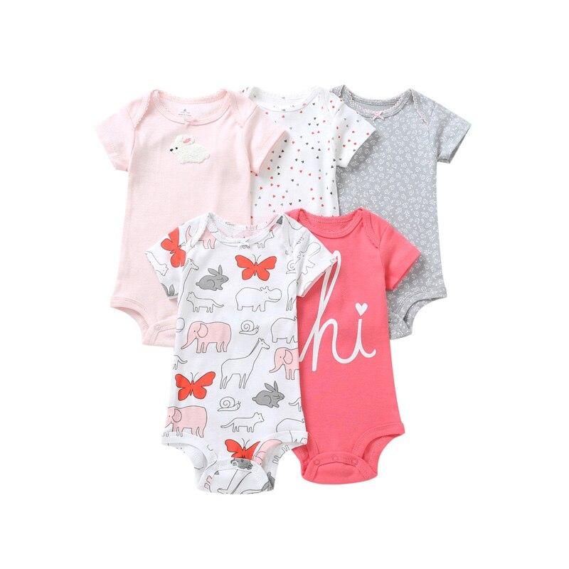 8 pièces bébé garçon vêtements d'été bébé barboteuse nouveau-né combinaison roupa infantil ensemble de vêtements