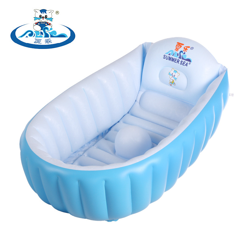 Environmental PVC Newborn Baby Inflatable Bath Tub Baby Bath Portable Infant Bath Tub Baby Swimming Pool Kid Bathtub environmentally friendly pvc inflatable shell water floating row of a variety of swimming pearl shell swimming ring