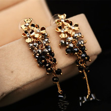 CX-Shirling Brand Earring Famous Design Long Chain Tassel Dangle Korea Fashion Anti-Allergy Flower
