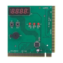 4-Digit Card Pc Analyzer Computer Diagnostic Motherboard Post Tester For Pci Isa Power On Self Test Card цена и фото