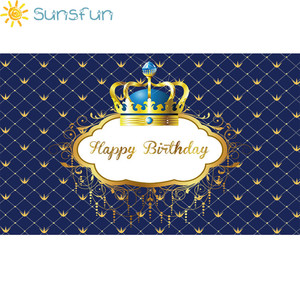 Image 2 - Sunsfun birthday background little prince royal crown baby shower dessert table decor newborn photoshoot birthday party banner