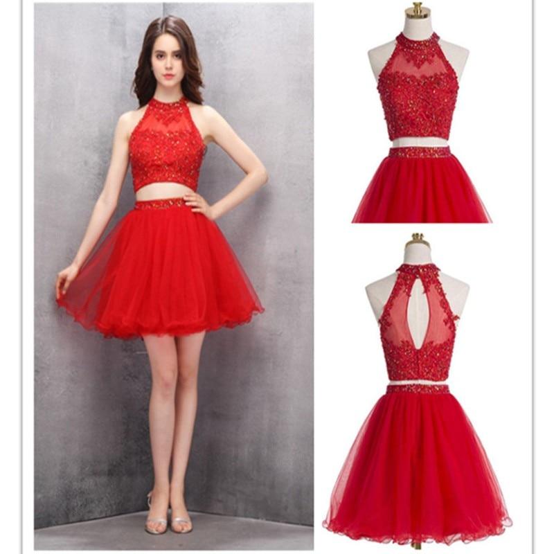 8fd2bcef4c Vestidos de graduacion color rojo cortos - Vestidos baratos
