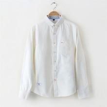 Рубашка мужская Slim Fit Стиль Мужской Для мальчиков оксфорды повседневные рубашки мужские Белый Синий Длинные рукава хлопок классический дизайнерский бренд