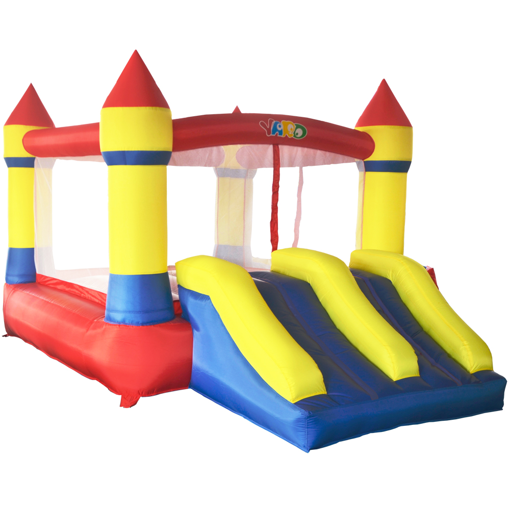 YARD Dual Slide Inflatable Jumping Castle Bouncy Castle 3.7x2.6x2.1m Inflatable Bouncers with Blower Inflatable Castle for Kids free shipping pvc material inflatable baby bouncers hot sale 3 75x2 6x2 1 meters small mini bouncy castles for outdoor toys