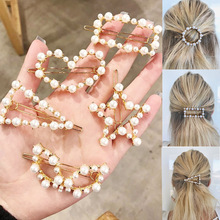 Fashion Crystal Pearl Hair Clips Metal Hairclip Elegant Barrette Bobby Pins Wedding Styling Tool for Women