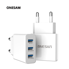 Fast Charger 3USB Ports Quick charge 5V 3.1A for Iphone 7 8 Mobile Phone Safety QC 3.0 Samsug s9 Huawei C06 EU Type C Cables