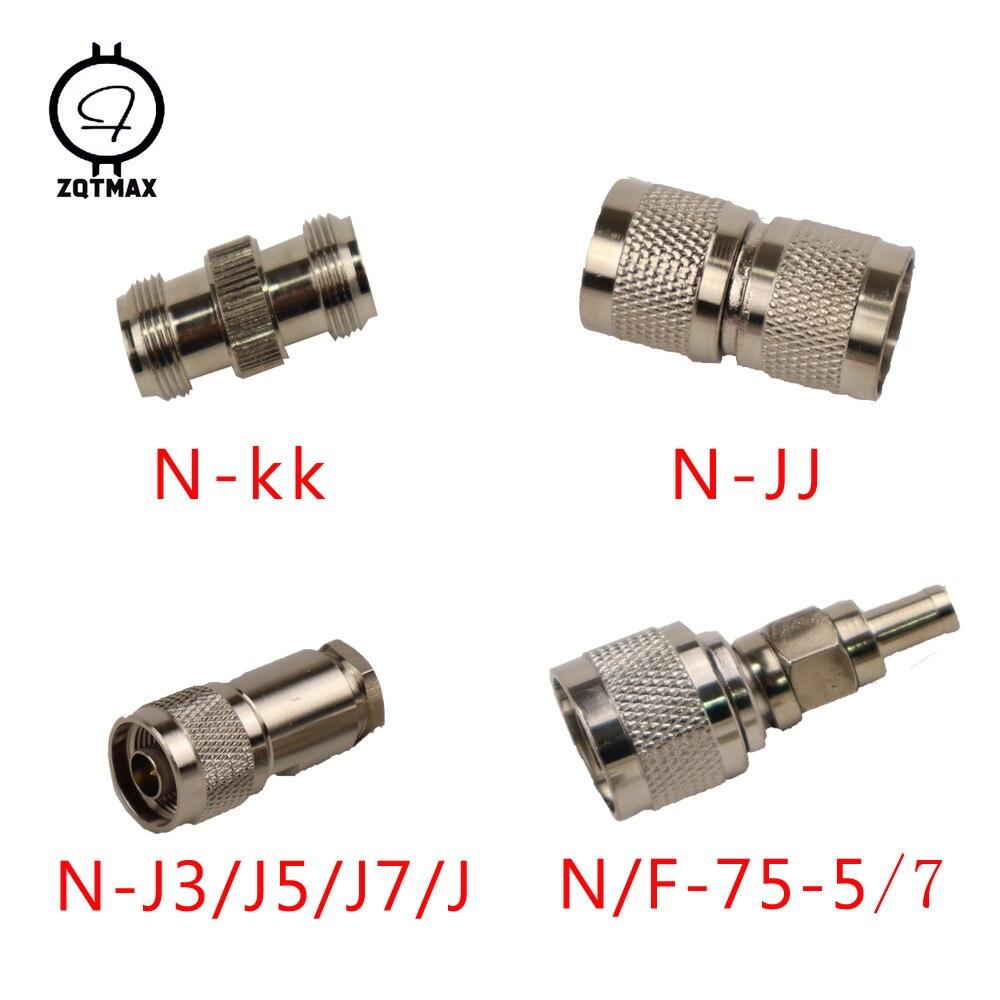 ZQTMAX Variety of different models N-KK N-JJ N-J5/J7 N-75-5/7 N-Type Male Female Connector Coaxial Connectors Convert Adapter