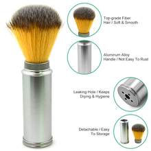 Men's Shaving Brush Aluminum Alloy Handle Nylon For Men Clearance Beard Brush Pro Barber Face Cleaning Razor Barber Brush Tool