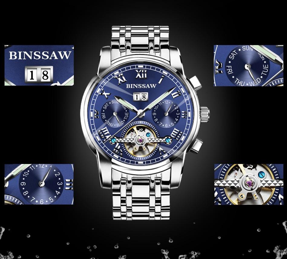 Zegarki męskie Binssaw Casual Business Mechaniczne zegarki na rękę - Męskie zegarki - Zdjęcie 3