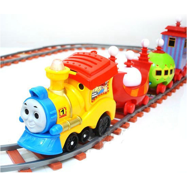 D410 Thomas electric train track children's music Tinker car simulation car
