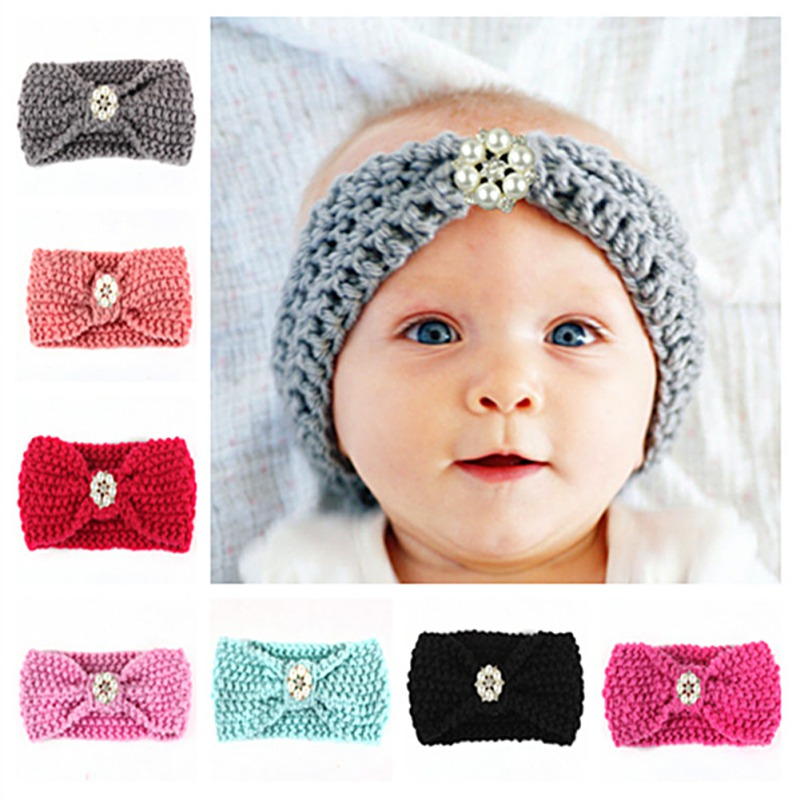 Kids Boy Girl Baby Knit Hairband Lovely Kids Hair Accessories Photography Knitting Headbands Elastic Headwear