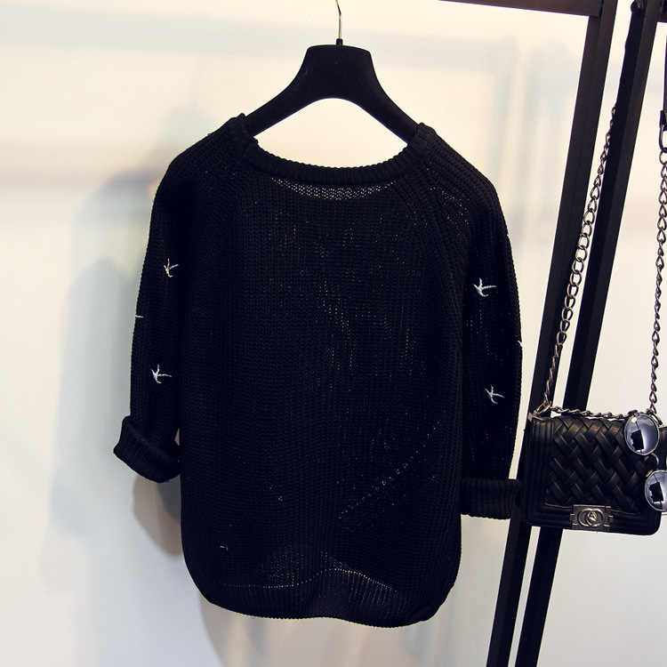 2019 Новое поступление весна осень Модный женский свитер Высокое качество Повседневные свитера женский джемпер пуловеры Свободные Femininas Blusas