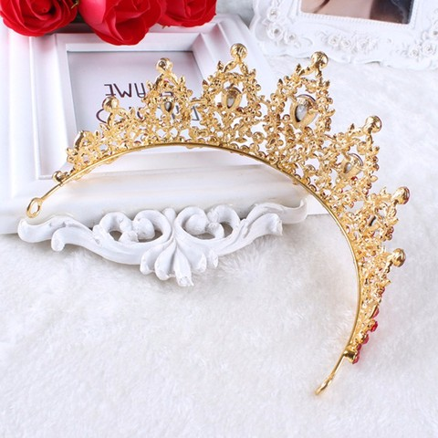 Vintage Prom Pageant Wedding Red Tiaras And Crowns 2017 Headband Hairband Bridal Rhinestone Pageant Tiaras Crowns Hair Jewelry Islamabad