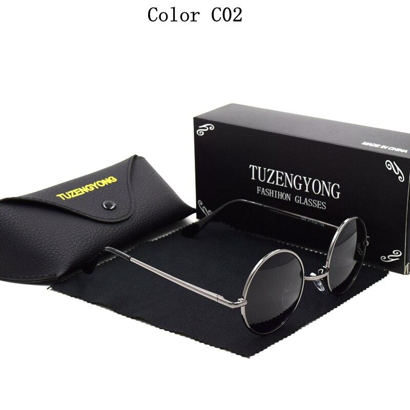 TUZENGYONG Retro Runde Sonnenbrille Marke Unisex Sonnenbrille - Bekleidungszubehör - Foto 4