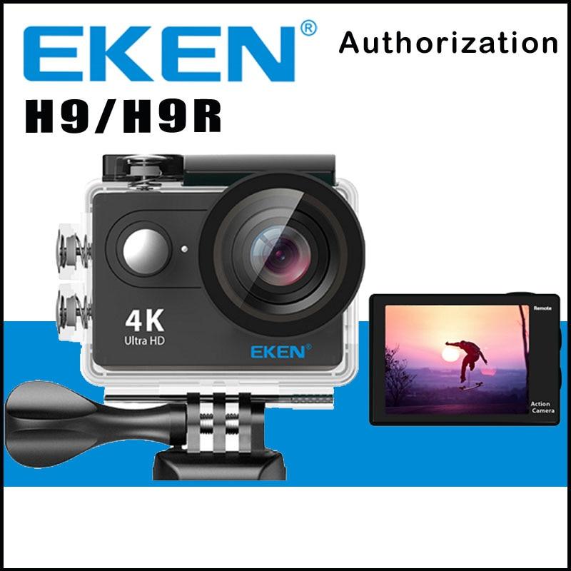 Оригинальный EKEN H9/h9r Дистанционное действие Камера Ultra HD 4 К Wi-Fi 1080 P/60fps 2.0 ЖК-дисплей 170d объектив Спорт CAM Go Водонепроницаемый Pro Камера