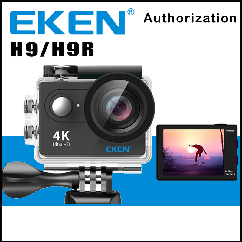 Original EKEN H9 / H9R Remote Action Camera Ultra HD 4K WiFi 1080P/60FPS 2.0 LCD 170D Lens Sport Cam Go WaterProof Pro Camera ultra hd 4k action camera wifi camcorders 16mp 170 go cam 4 k deportiva 2 inch f60 waterproof sport camera pro 1080p 60fps cam