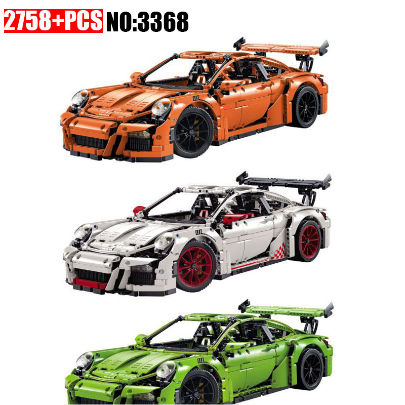 3368 Technic series The Fashion sports car Model Building Blocks set Compatible 42056 classic car-styling Toys for children wange mechanical application of the crown gear model building blocks for children the pulley scientific learning education toys