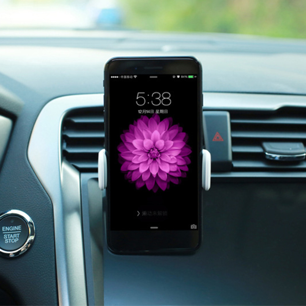 IQIHUI Car Holder Adjustable By One-hand Family Support 360 rotating Met Auto Air Verse-stick For Smartphone Universal