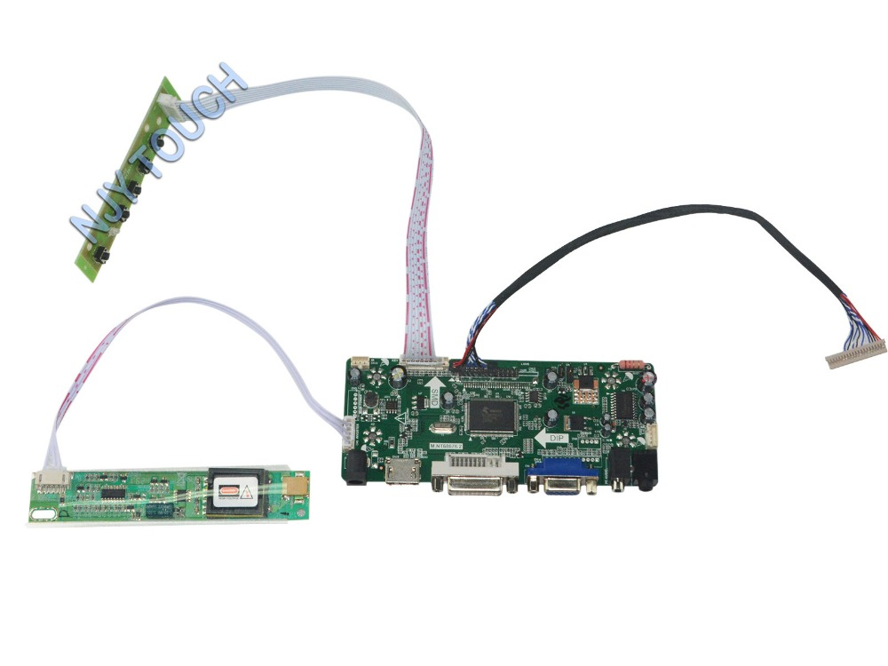 ФОТО M.NT68676.2A HDMI DVI VGA Audio LCD Controller Board for 14.1inch 1024x768 CLAA141XF01 CCFL TFT LVDS Monitor Kit Easy to DIY