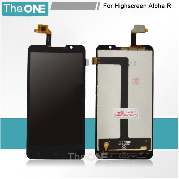 10 pcs Stable Quality For Highscreen Alpha R 5 Touch Screen + LCD Display Assembly for Highscreen Alpha R LCD screen display