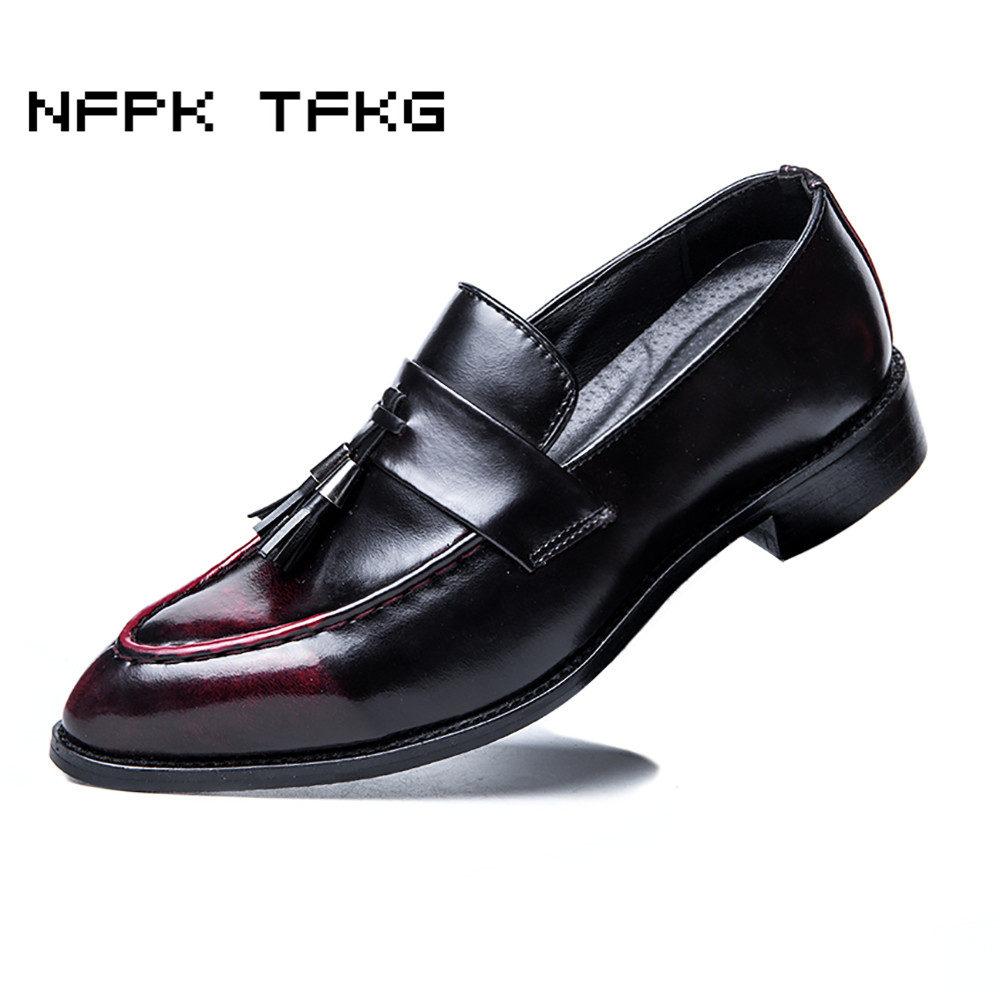 England fashion men's breathable wedding party dresses summer genuine leather shoes slip-on tassel flats oxford shoe loafers man 1pcs family full body massage massgaer helper sillicone anti cellulite vacuum silicone cupping cups health care c823