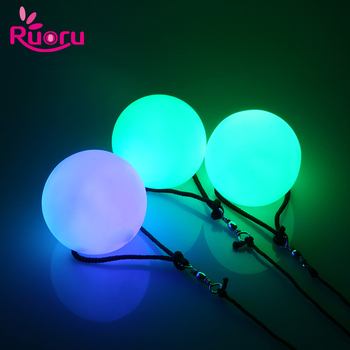 Ruoru 1 Piece 1PC Belly Dance Ball Stage Performance Led Poi Thrown Balls for Hand Props Accessories