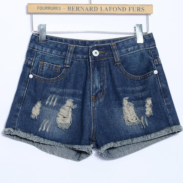 New Design 2016 Summer Shorts Women Sexy Holes Slim Denim Shorts Fashion Plus Size Ripped Wash Casual Short Jeans