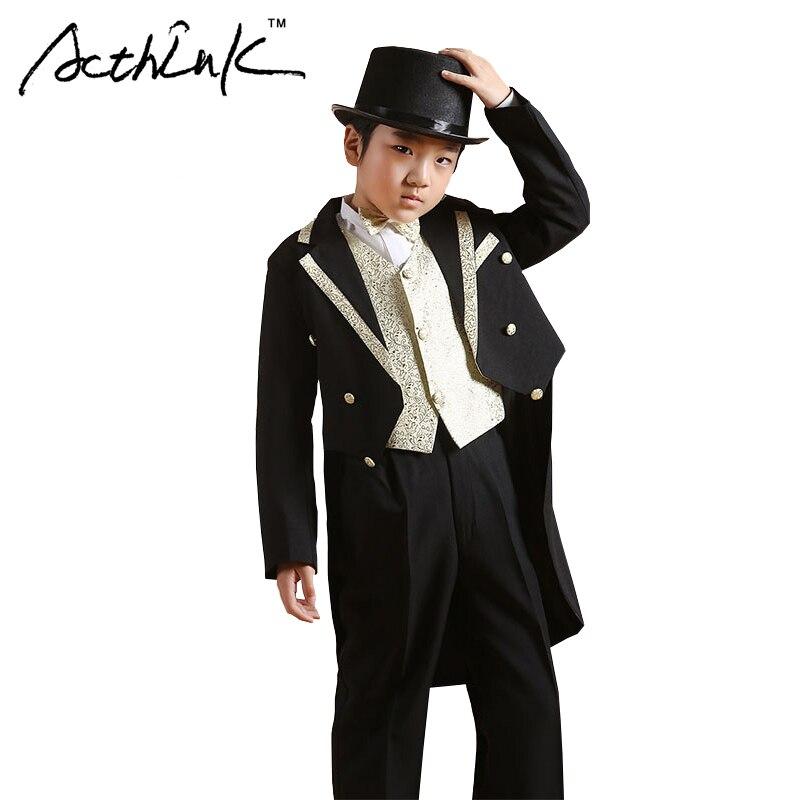 ActhInK Gentle Boys The Tuxedo+Vest+Pant+Shirt+Bowtie+Belt Formal Suit without Hat Baby Boys Party&Proms&Performance Suit, MC163